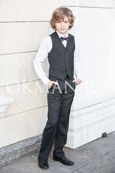 Детские темно-серые брюки Stenser Б84