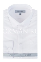Детская белая фактурная рубашка Stenser C05