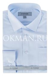 Нежно-голубая фактурная детская рубашка Stenser C06