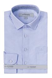 Голубая детская рубашка Stenser С3003