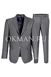 Серый костюм-двойка для выпуского Kaizer K46