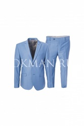 Стильный мужской зауженный костюм-двойка Stenser 5147
