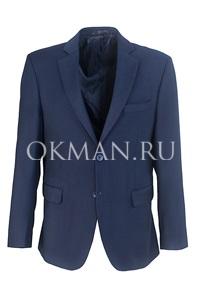 Синий приталенный пиджак Stenser П90