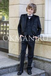 Черный велюровый костюм-двойка для мальчика 91