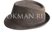 Светло-коричневая мужская шляпа