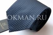 Темно-синий галстук Nino Pacoli в синию точку без штриха