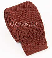 Вязаный галстук глубокого коричневого цвета