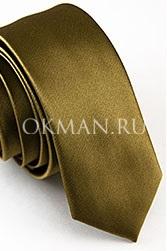 Узкий галстук бронзового цвета