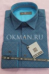 Мужская приталенная рубашка Nino Pacoli