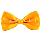 Бабочка-галстук яркого желтого цвета