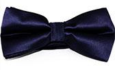 Темно-синяя атласная бабочка - галстук