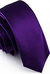 Галстук узкий фиолетового цвета